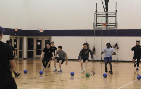 """FBLA hosted a dodgeball tournament on Jan. 24 at East. Students on all different teams competed to win. """"I was running to go get the balls for my team in a dodgeball tournament,"""" Jason Bishop said."""